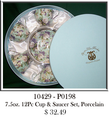 10429 - P0198 7.5oz 12Pc Cup & Saucer Set