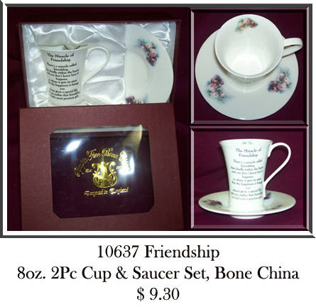 10637Friendship 2Pc Cup & Saucer Set