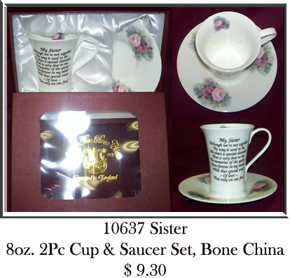 10637Sister 2Pc Tea Set