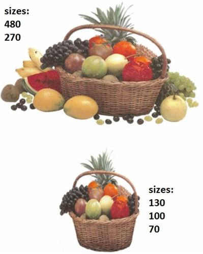 10959 Tropical Fruit Basket