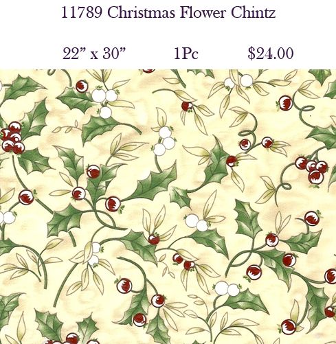 11789 Christmas Flower Chintz
