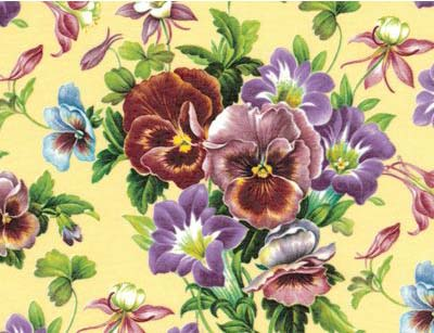 11875A Pansies Chintz Fondo