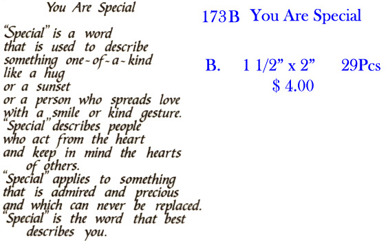 173B You Are Special