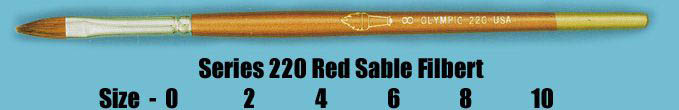 Series 220 Red Sable Filbert