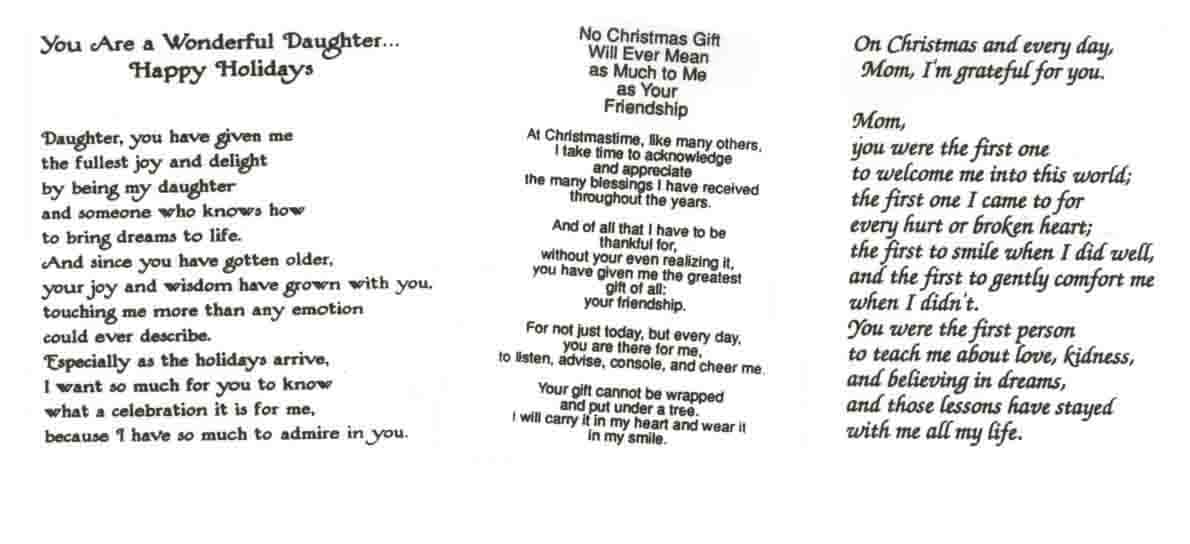 291D ASSORTED CHRISTMAS VERSES
