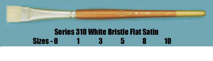 Series 310 White Bristle Flat Stain