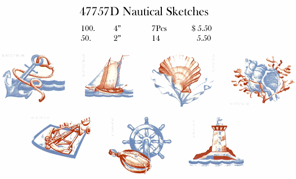 47757D Nautical Sketches