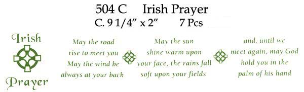504C Irish Prayer