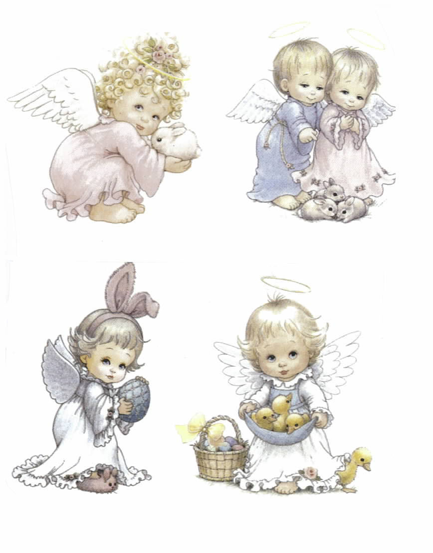 5219 EASTER ANGELS (SET OF 4)