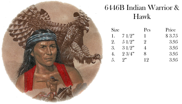 6446B Indian Warrior & Hawk