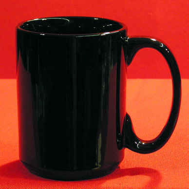 9116B - 11 OZ. C-HANDLE BLACK MUG