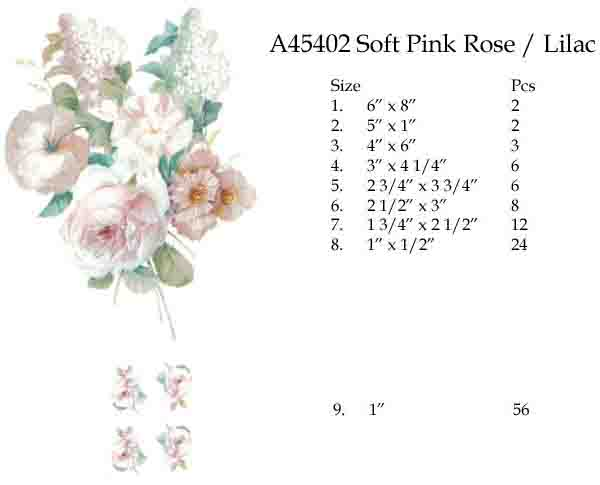 A45402 SOFT PINK ROSE/LILAC
