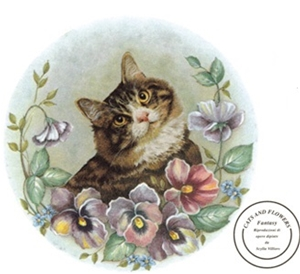 A57234A Cats & Flowers