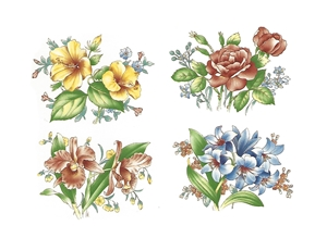 A31810 ASST. SET OF 4 FLOWERS