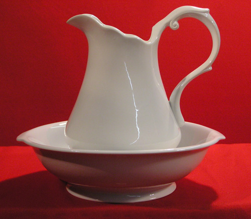 D1021-12 PITCHER & BOWL