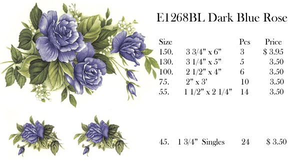 E1268BL Dark Blue Rose