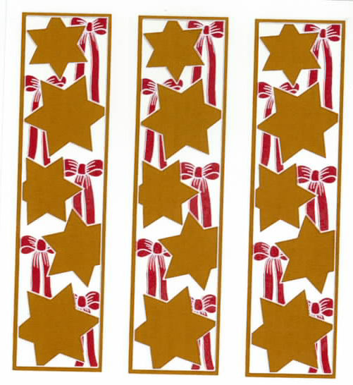 GL3006C  GOLD STARS AND RED RIBBONS