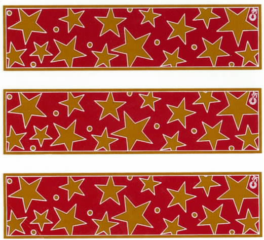 GL3006D GOLD STARS FOR GLASS