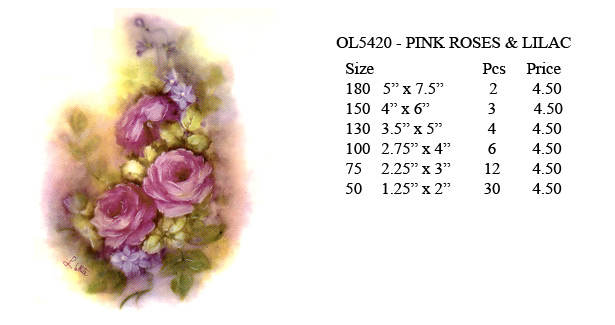OL5420 - PINK ROSES & LILAC