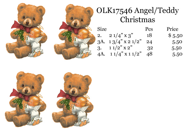 OLK17546 Angel / Teddy Christmas