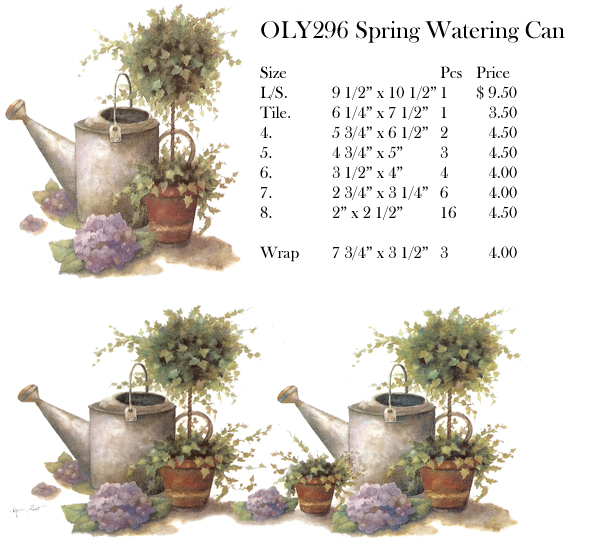 OLY296 Spring Watering Can