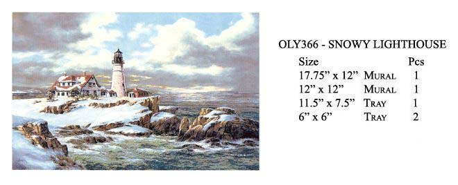 OLY366 - SNOWY LIGHTHOUSE