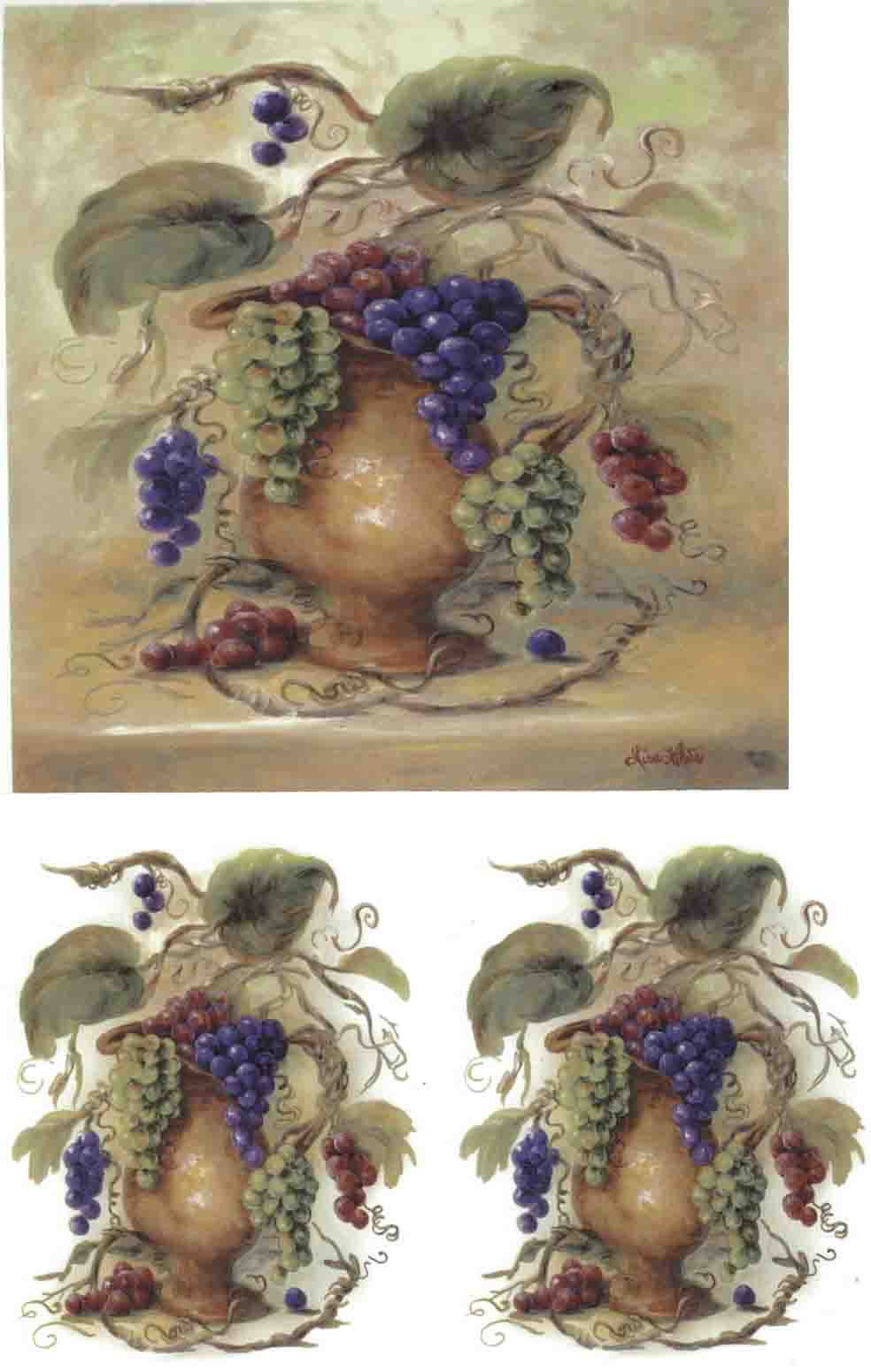 OLY406 - PITCHER WITH GRAPES