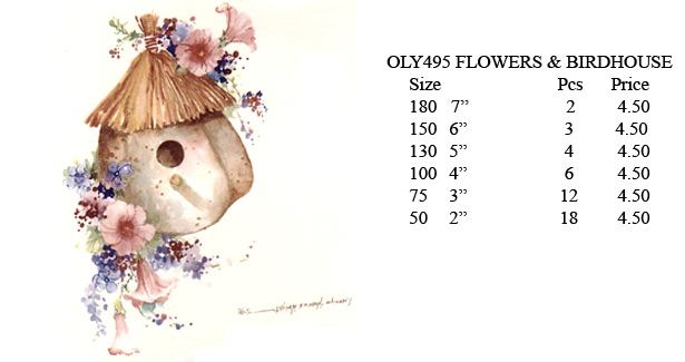 OLY495 - FLOWERS & BIRDHOUSE