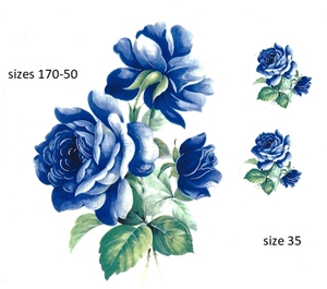 A46764 Blue Sketched Rose