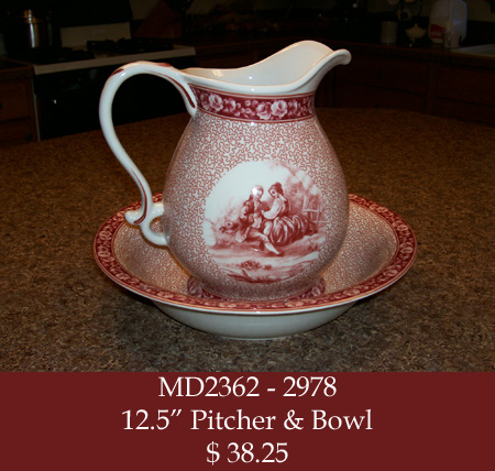 MD2362 - 2978 Pitcher & Bowl