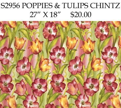 S2956 Poppies & Tulips Chintz