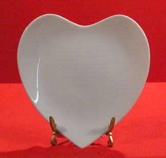 6-5PHP - PLAIN HEART PLATE