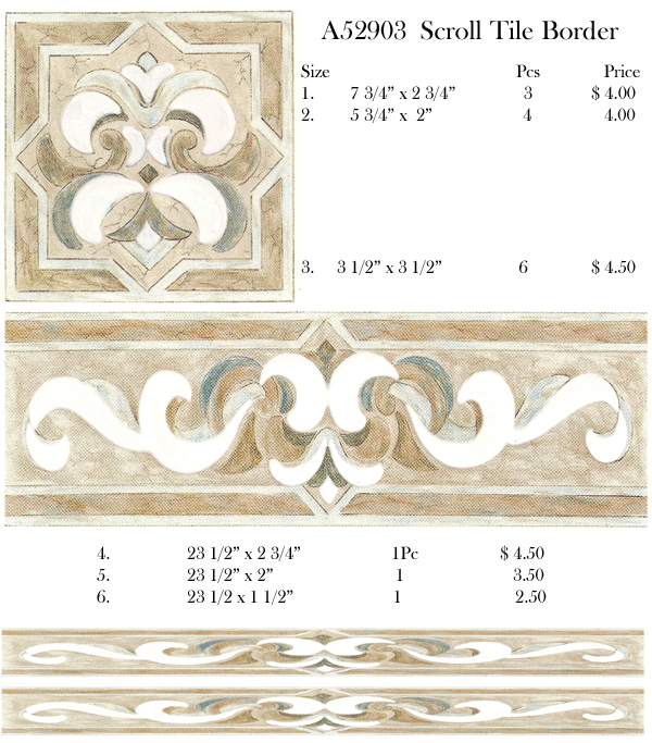 A52903 Soft Scroll Border Lustre