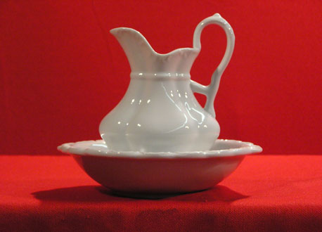 "D1116-14"" - PITCHER & BOWL"