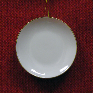 "G2852-4  4"" PLATE  WITH  GOLD RIM"