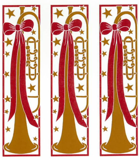GL3006A GOLD TRUMPET WITH RIBBON