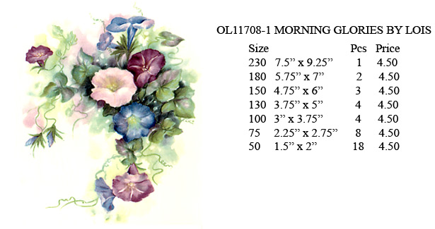 OL11708-1 MORNING GLORIES BY LOIS