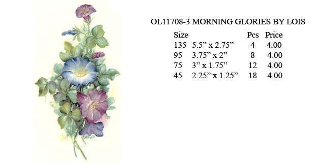 OL11708-3 MORNING GLORIES BY LOIS