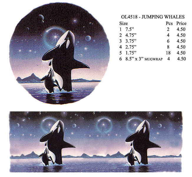 OL4518 - JUMPING WHALES