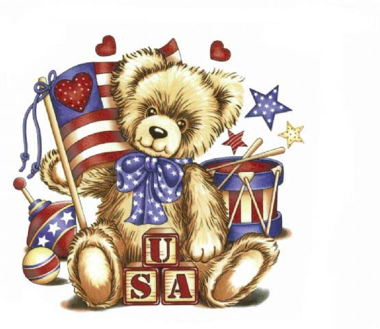 OLN641 U.S.A. TEDDY BEAR