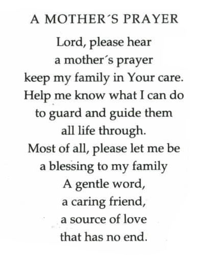 OLN694B  A MOTHERS PRAYER