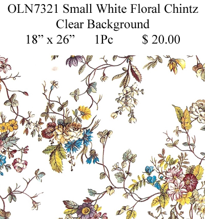 OLN7321 Small White Floral Chintz