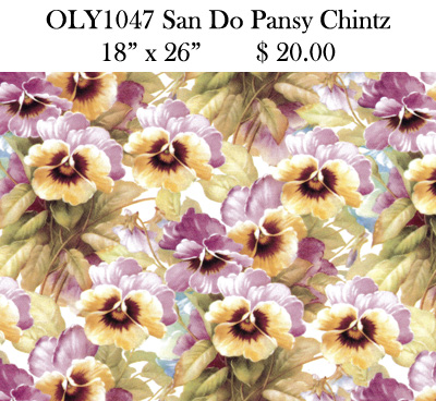 OLY1047 San Do Pansy Chintz
