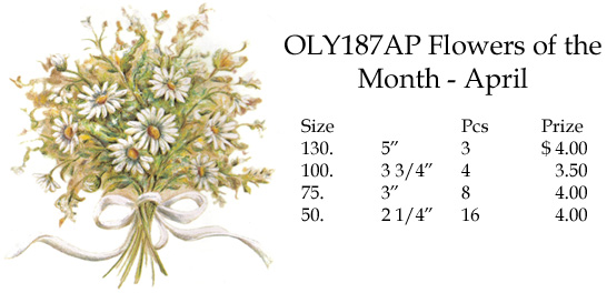 OLY187AP Flowers of the Month - April