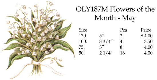 OLY187M Flowers of the Month - May
