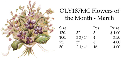 OLY187MC Flowers of the Month - March