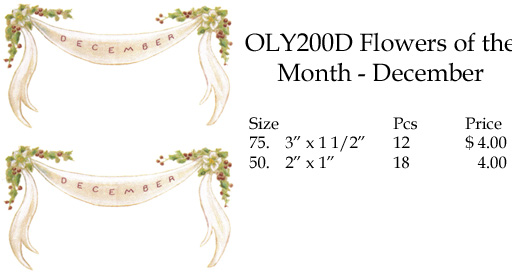 OLY200D Flowers of the Month - December