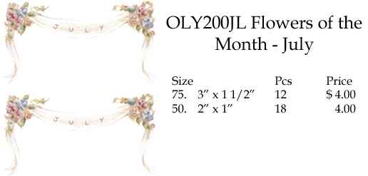OLY200JL FLowers of the Month - July