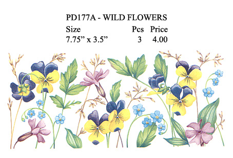 PD177A - WILD FLOWERS