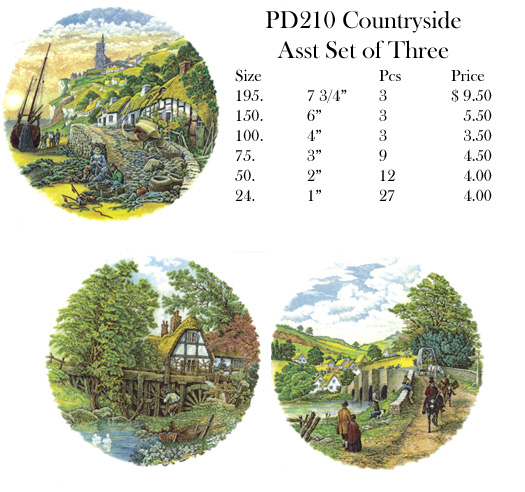 PD210 Countryside Asst Set of Three